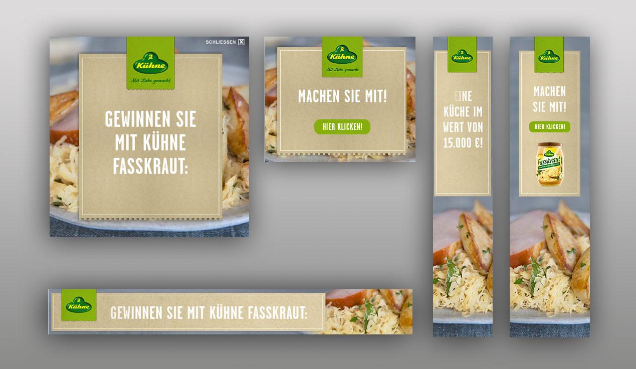 Bannerproduktion für das Fasskraut von Kuehne.