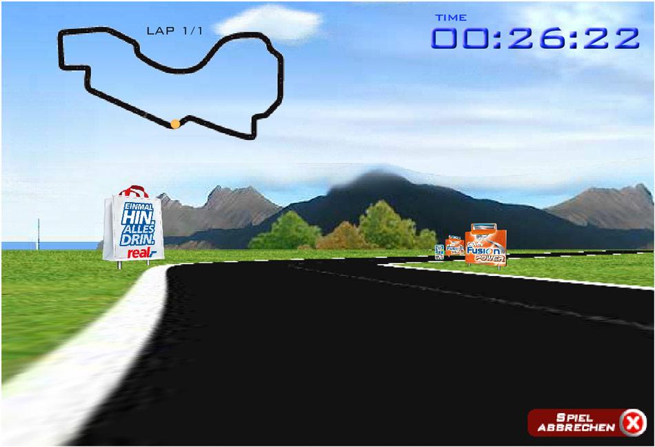 Racing Game für eine Kooperation zwischen Real und Gillette.
