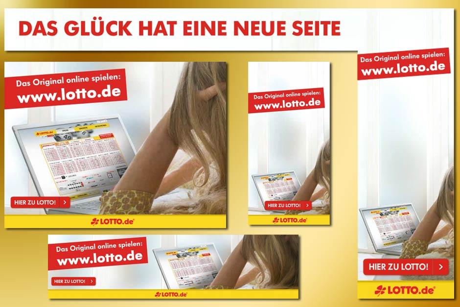 Adaptionen einer Bannerstrecke für lotto.de