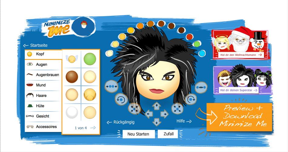 Avatardesigner für den Messenger von Microsoft.