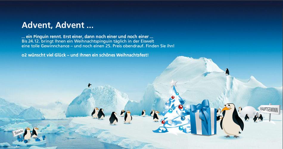 Interactiver Adventskalender für die Markenwelt von O2.