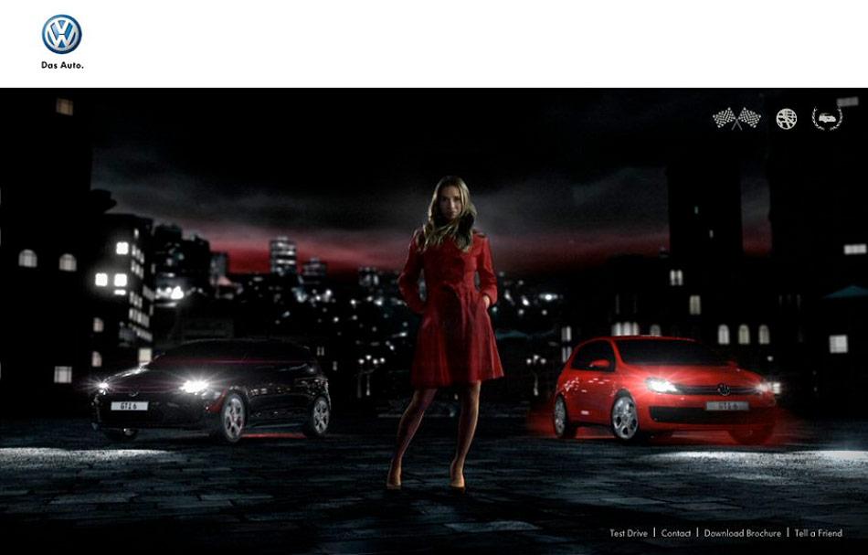 Online 3D/Video Racing Game zur Einführung des VW Golf GTI.