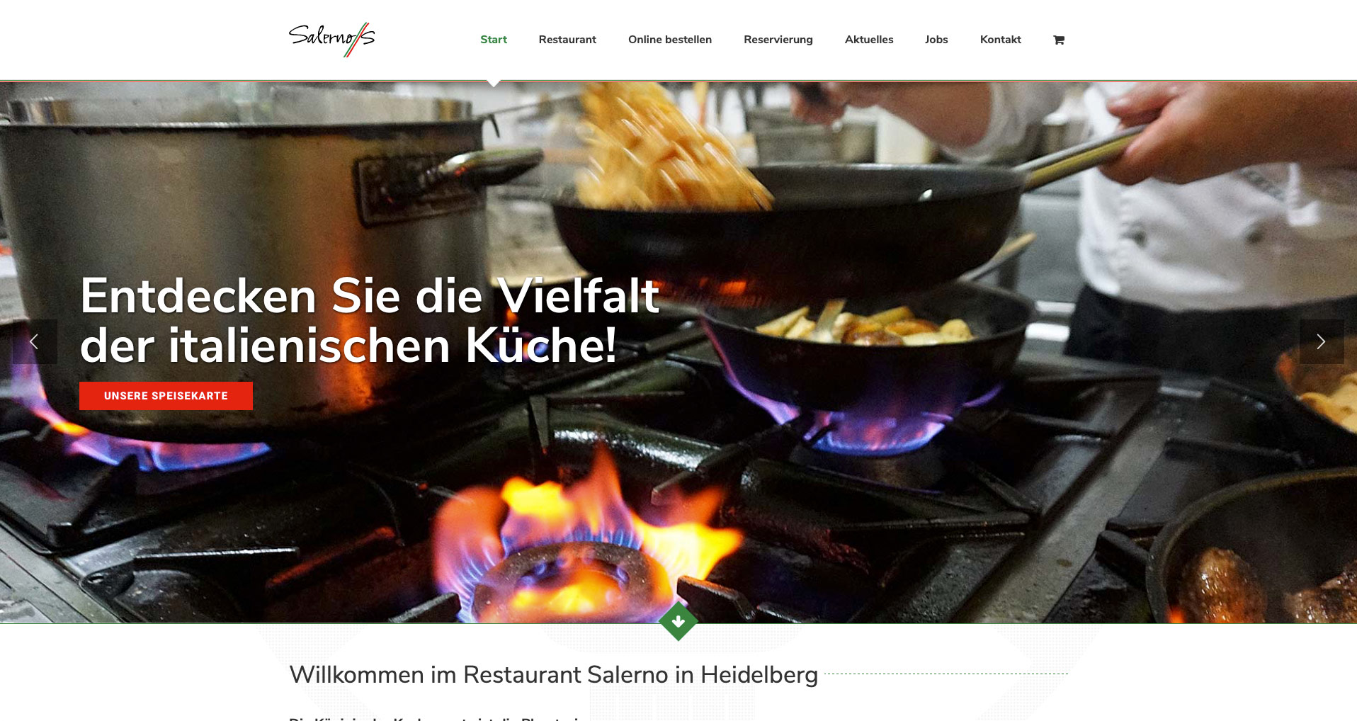 P1XEL - WordPress Website und WooCommerce Online Lieferdienst Salerno in Heidelberg