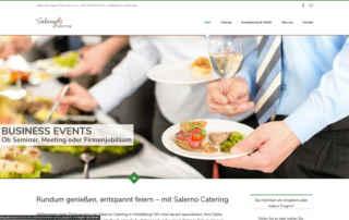 P1XEL - WordPress Webseite für das Catering Unternehmen Salerno in Heidelberg