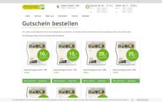 P1XEL - WooCommerce Gutschein Bestellsystem für das Gartenparadies Pfettscher in Sulzfeld
