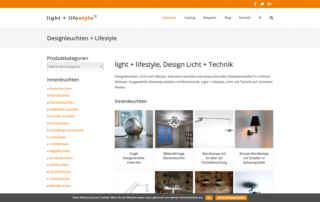 P1XEL - WordPress & WooCommerce Onlineshop für Design Beleuchtung - Light & Lifestyle