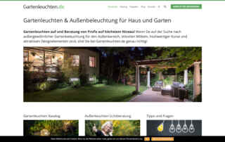 P1XEL - WordPress & WooCommerce Onlineshop für Gartenbeleuchtung - Gartenleuchten.de