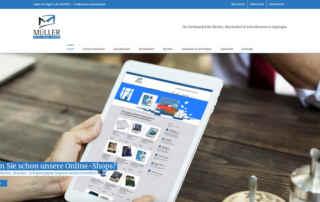 P1XEL - WordPress Website für den Bürobedarf Handel Müller in Eppingen