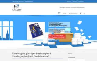 P1XEL - WordPress & WooCommerce Onlineshop für den Drucker und Kopierpapier Versandhändler Müller in Eppingen