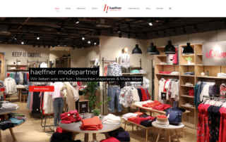 P1XEL - WordPress Internetseite für die Firma Modepartner Häffner, die in Heilbronn und Ludwigsburg mehrere Bekleidungsgeschäfte führt