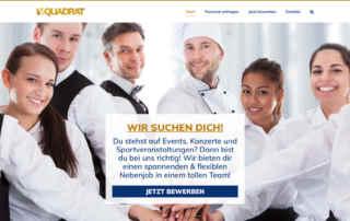 P1XEL - WordPress Webseite für den Personaldienstleister V-QUADRAT mit Sitz in Mannheim