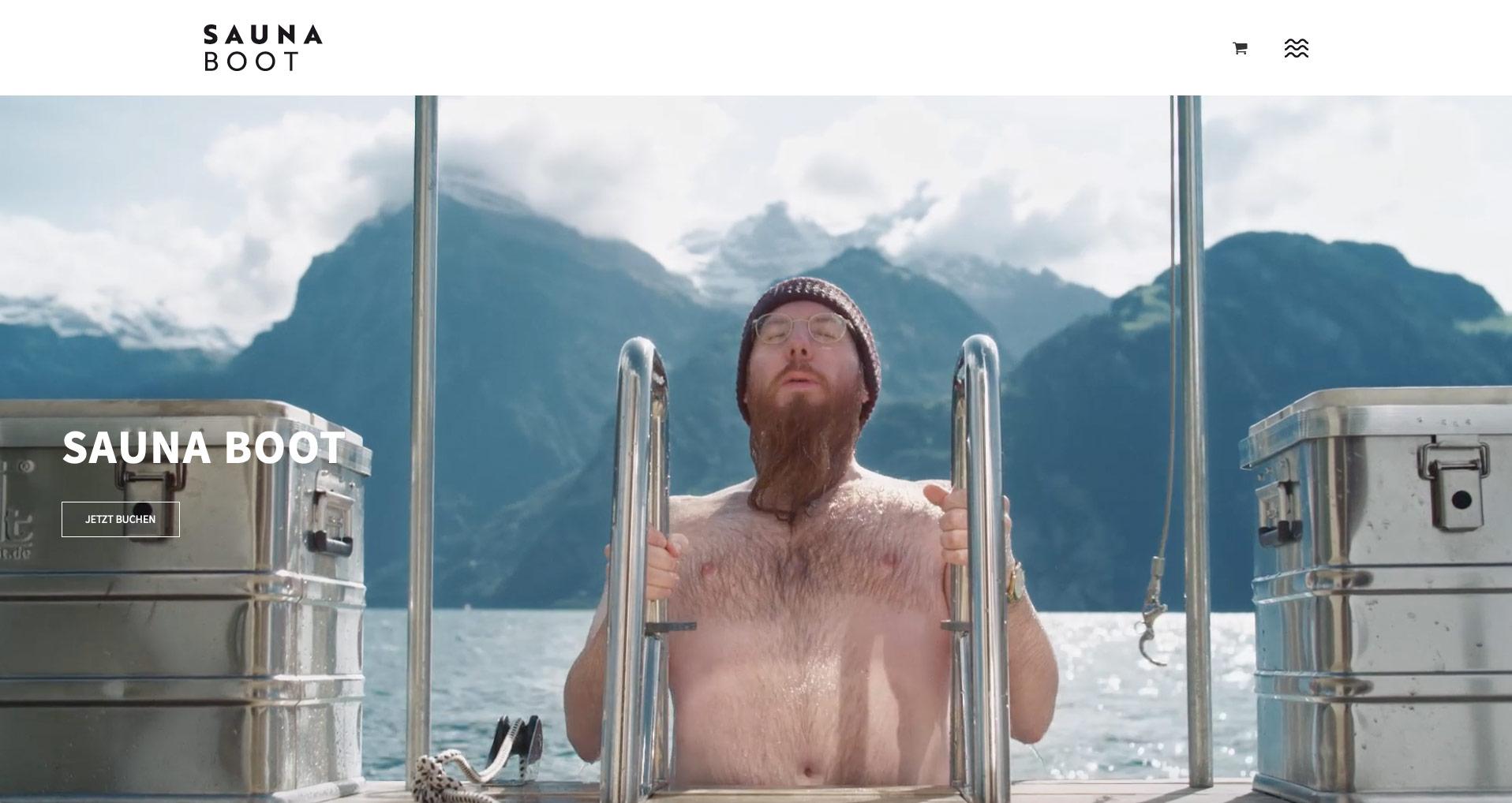 P1XEL - WordPress Webseite und WooCommerce Buchungssystem für die Saunaboot GmbH in Luzern (Schweiz)