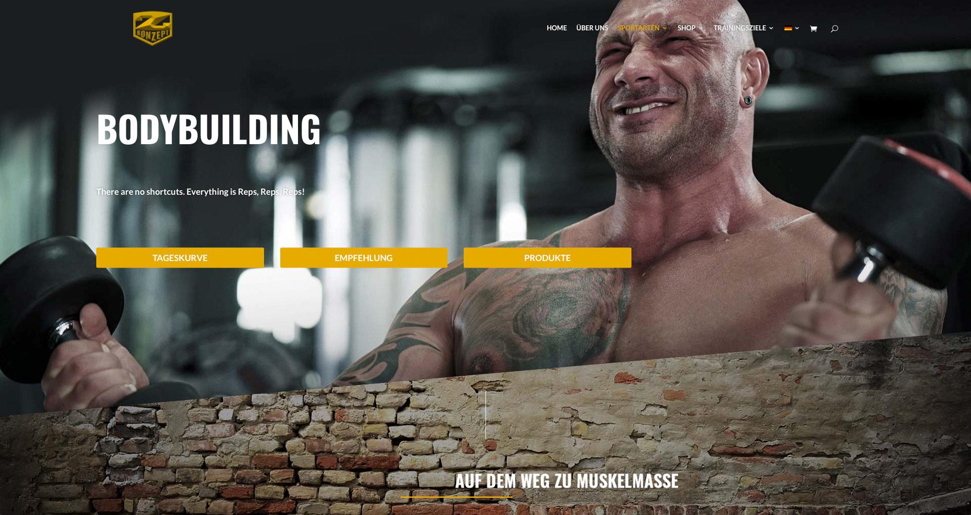 P1XEL - WordPress Webseite und WooCommerce Onlineshop für den Sportnahrungsmittel Hersteller Z-Konzept Nutrition aus Hamburg