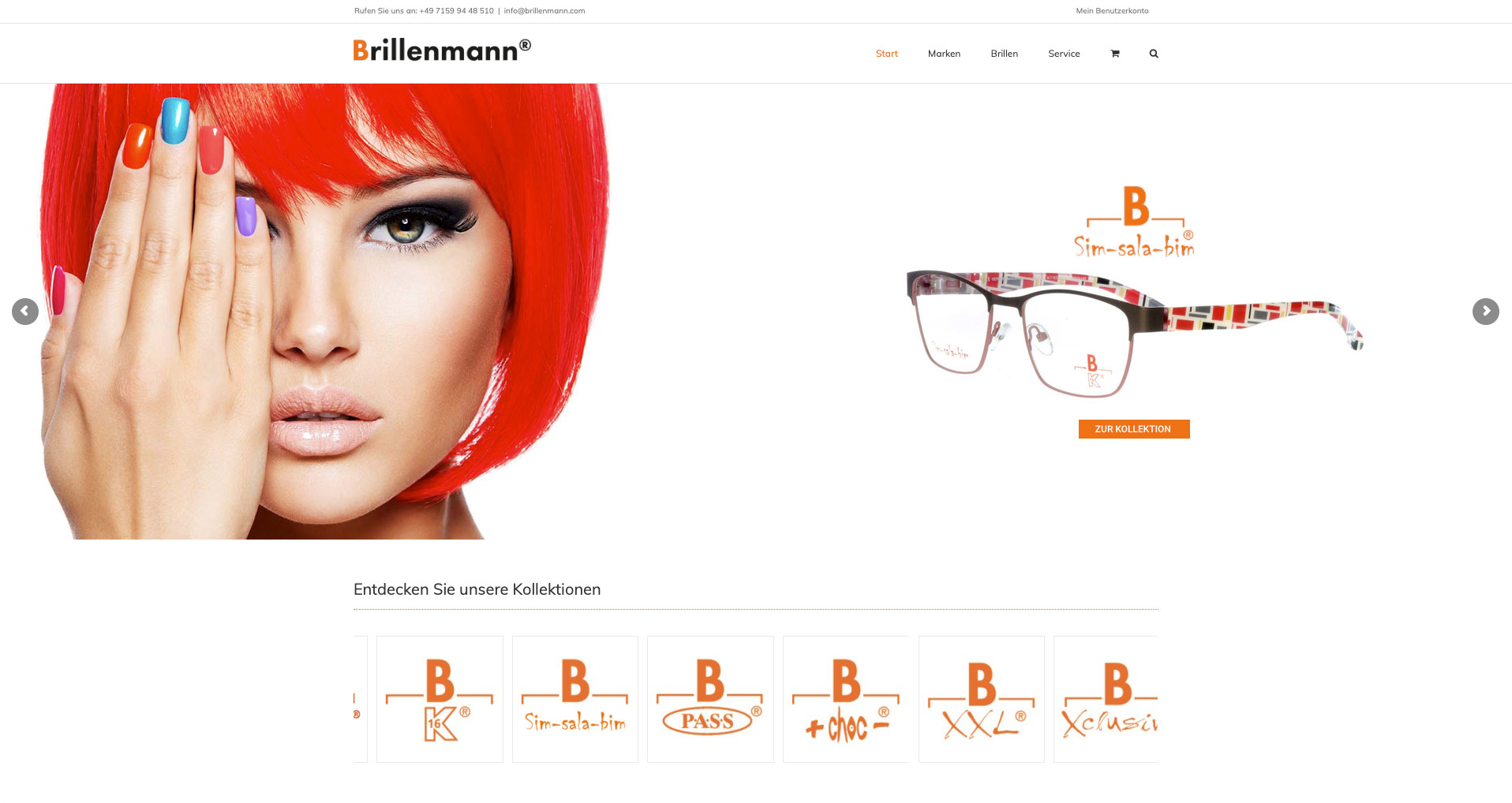 P1XEL - WordPress Website und B2B WooCommerce Onlineshop für den Brillenhersteller Brillenmann mit Sitz in Renningen