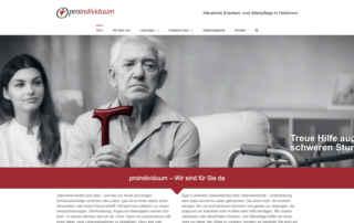 P1XEL - WordPress Webseite für Pro Individuum Häusliche Kranken- und Altenpflege in Heilbronn