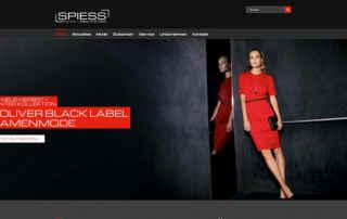 P1XEL - WordPress Website für das SPIESS Modehaus in Eppingen