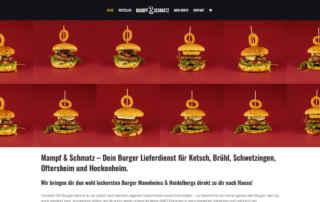 P1XEL - WordPress Website und Online Lieferdienst für die Fastfood Restaurant Kette Mampf & Schmatz in Ketsch