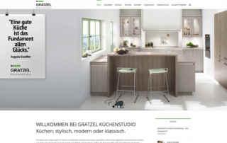 P1XEL - WordPress Webseite für das Küchenstudio Gratzel aus Gemmingen