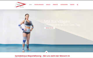 P1XEL - WordPress Website für das Sanitätshaus Sanitätshaus Mayer & Rexing GmbH in Heidelberg