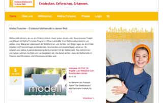 """P1XEL - WordPress Webseite """"Matheforscher"""" für die Stiftung Rechnen"""