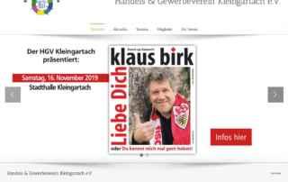P1XEL - WordPress Internetseite für den HGV Kleingartach