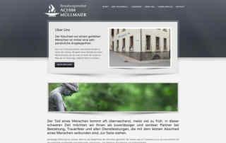 P1XEL - WordPress Internetseite für das Bestattungsinstitut Achim Müllmaier in Eppingen
