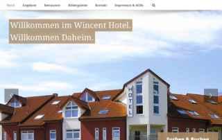 P1XEL - WordPress Website für das Hotel Vincent in Sinsheim