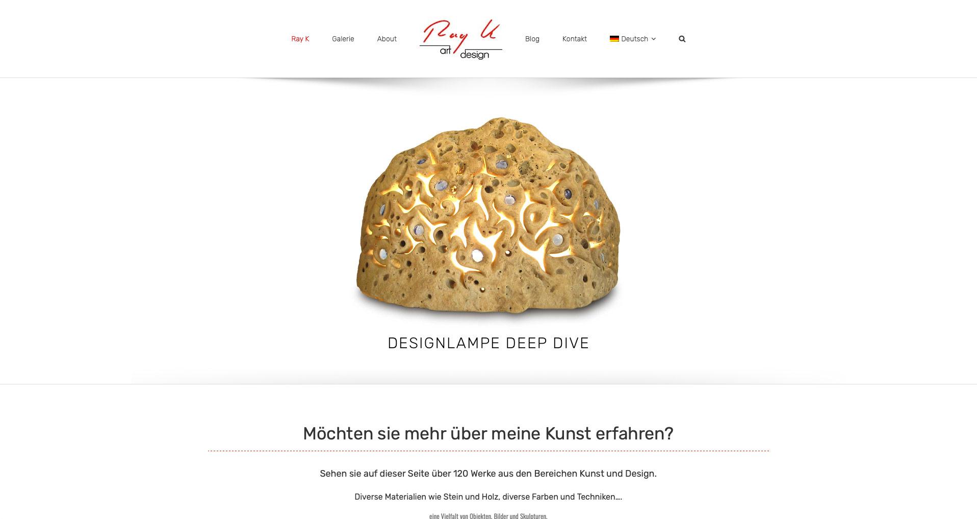 P1XEL - WordPress & WooCommerce Webseite für den Künstler Ray K. aus Heidelberg